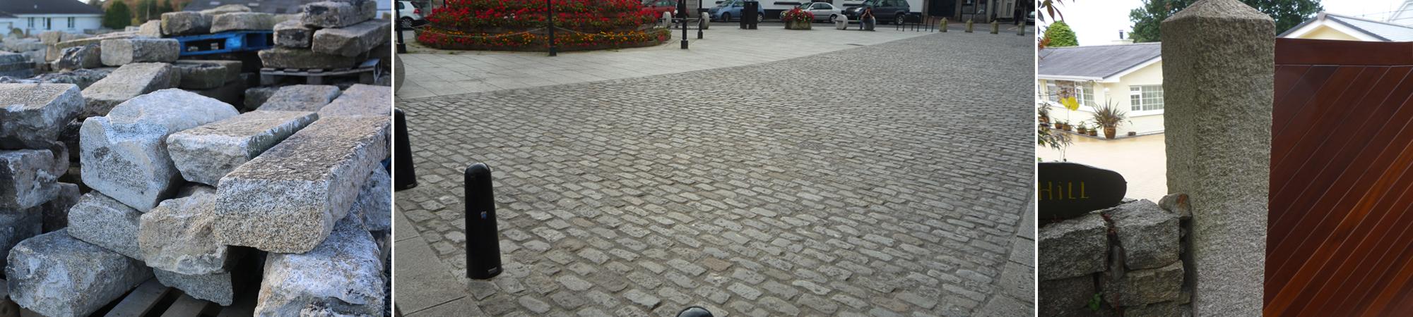 Granite - Slate - Oak   Granite Paving Devon